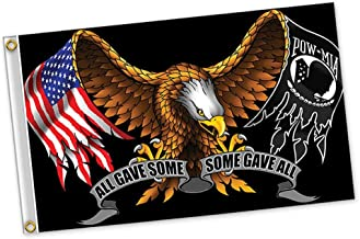 Hot Leathers POW MIA All Gave Some Some Gave All Eagle Polyester 3 x 5 Foot Flag