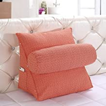 DECUHTE Wedge Pillow Triangle Pillow Throw Back Support Angle Pillows Flex Cushion Adjustable Reading Pillow Sofa Bed Offi...