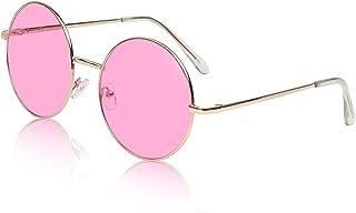 57e4ee6b3 Sunny Pro Big Round Sunglasses Retro Circle Tinted Lens Glasses UV400  Protection