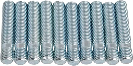 20pcs Extended Silver Wheel Stud Conversion - 12x1.5 to 12x1.5, 60mm Total Length, 44mm Shank Length - Compatible with many BMW BMW 1 3 5 Series (Ensure Vehicle uses 12x1.5 Bolts) Screw Adapter