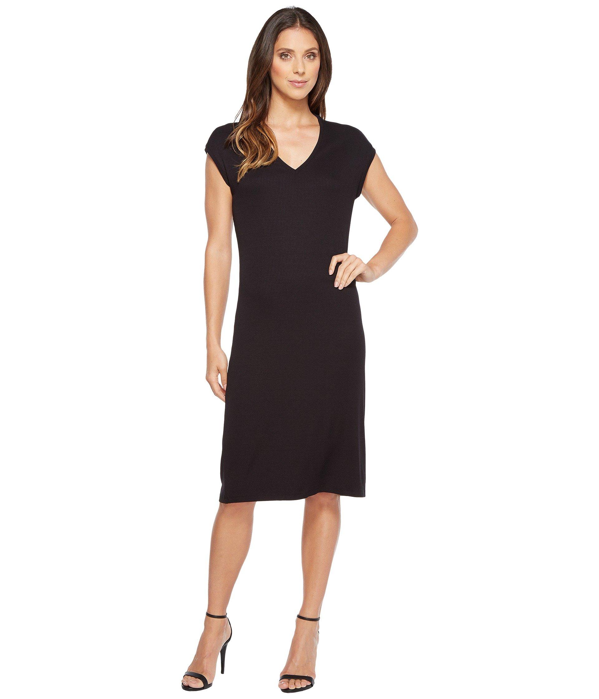 IVANKA TRUMP Short Sleeve Knit Dress, Black