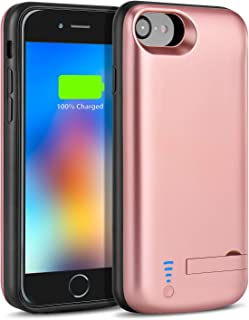 Battery Case for iPhone 6S/6/7/8 6000mAh-Bleliftus Slim Rechargeable Portable Battery Pack Charging Case for iPhone 6S/6(4.7 inch) Extended Power Bank Protective Charger Case (Rose)