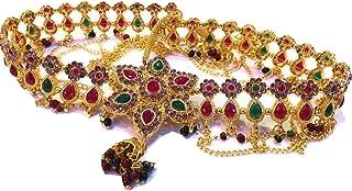 XLDreams Gold Kundan Belly Chain for Women