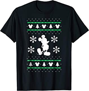 Mickey Mouse Christmas Sweater Print T Shirt
