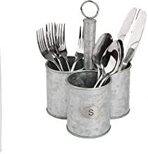 Mind Reader 3SGCADUT-SIL, Cutlery, Silverware Organizer, Utensil Caddy, Multi-Purpose Holder, One Size, Silver Metal
