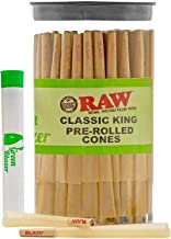 Raw Pre-Rolled Cones Classic King: 100 Pack – King Size Rolling Papers with Filter..
