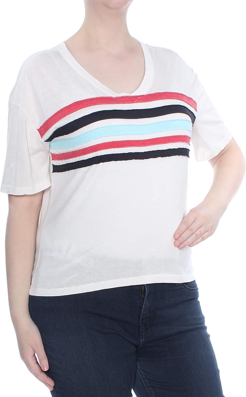 Ultra Flirt Womens Colorblock Short Sleeves T-Shirt