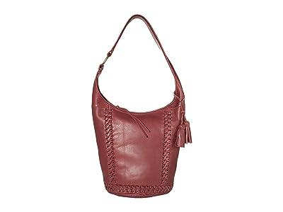 The Sak Skye Leather Bucket (Cabernet) Handbags
