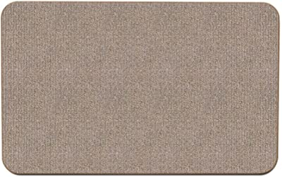 House, Home and More Skid-Resistant Carpet Indoor Area Rug Floor Mat - Pebble Beige - 3' X 5' - Many Other Sizes to Choose from