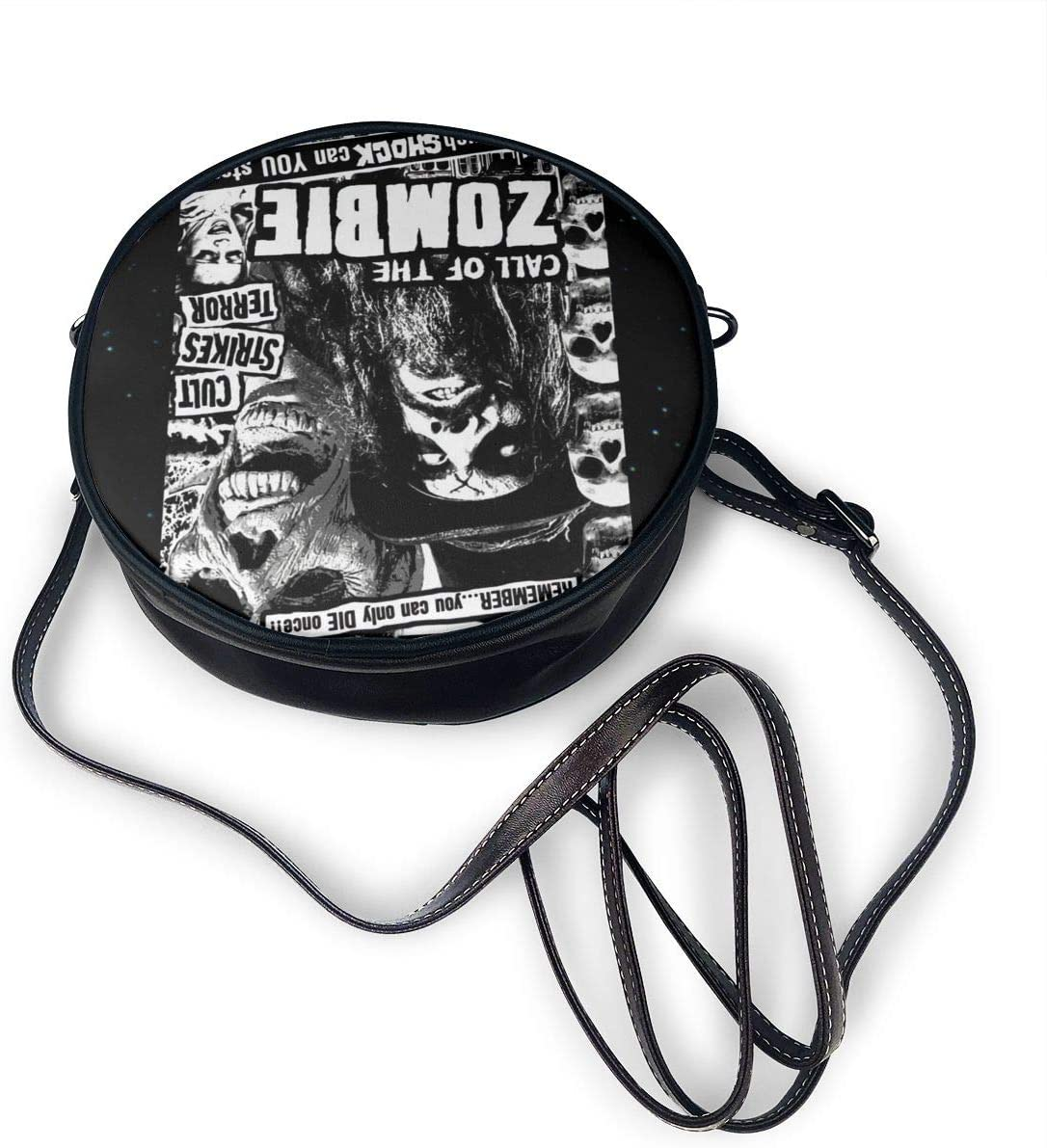 Rob Zombie Womens Round Leather Shoulder Bag Crossbody Purses