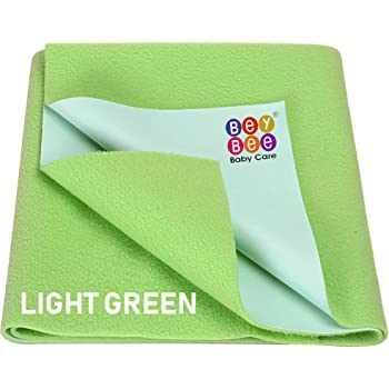 Beybee Baby Waterproof Bed Protector Sheet - Medium (Light Green)