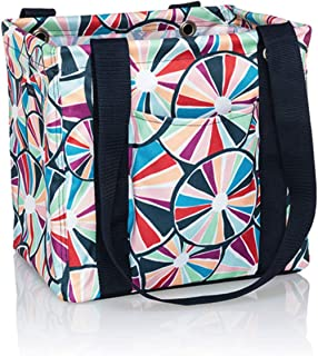 Thirty One Small Utility Tote - 9337 - No Embroidery - in Pinwheel Party