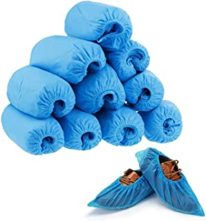 COM4SPORT 100 Pack(50 Pairs) Premium Disposable Boot & Shoe Covers, Non-woven Fabrics, Non-Slip and Protective Covers for Home, Workplace, Medical, Construction and Clean Rooms One Size Fits All