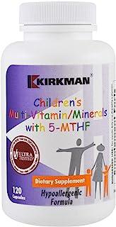 Kirkman Children's Multi-Vitamin/Mineral w/5-MTHF || 120 Vegetarian Capsules || Free of Common Allergens || Gluten Free || Casein Free