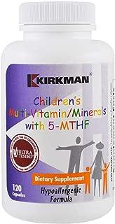 Kirkman Children's Multi-Vitamin/Mineral w/5-MTHF    120 Vegetarian Capsules    Free of Common Allergens    Gluten Free    Casein Free