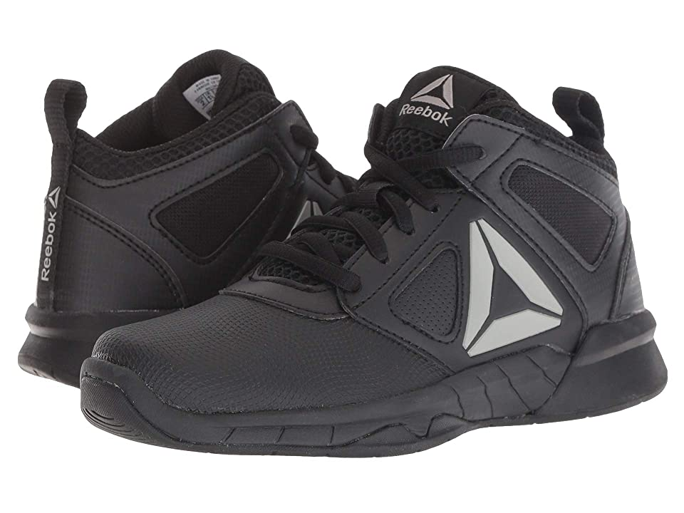 Reebok Kids Royal Dash N Drill Basketball (Little Kid/Big Kid) (Black/Pewter) Boys Shoes