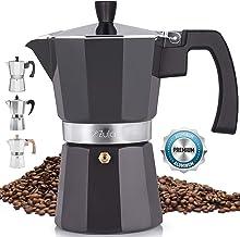 Zulay Classic Stovetop Espresso Maker for Great Flavored Strong Espresso, Classic Italian..