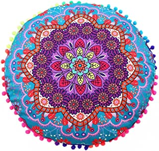 Cojines indio Mandala piso almohadas redondas de almohadas