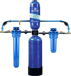 Aquasana Carbon & KDF Home Filtration EQ-1000 Whole House Water System-Filters Sediment & 97% Chlorine, 10 Yr, 1 Million Gl
