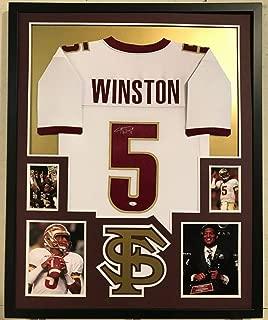 Jameis Winston Autographed Signed Custom Framed Florida State Seminoles Jersey - JSA Authentic