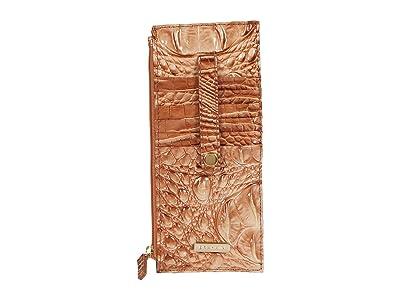 Brahmin Melbourne Credit Card Wallet (Terracotta) Wallet Handbags