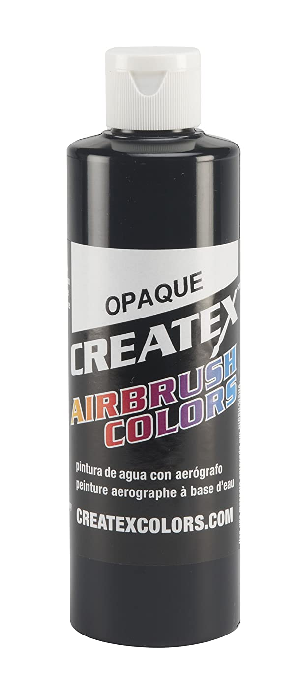 Createx Colors 5211-08 Paint for Airbrush, 8 oz, Opaque Black