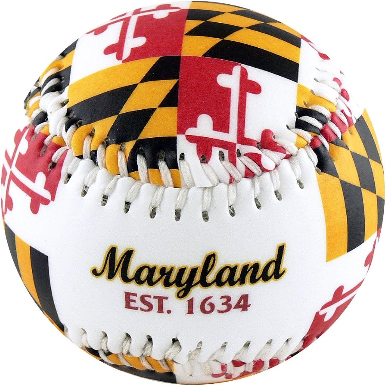 EnjoyLife Inc Maryland MD Flag Souvenir Baseball