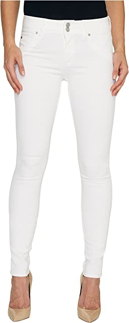 Collin Mid-Rise Skinny Flap Pocket Jeans in White