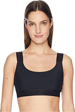 Cecile Basic Bra Top with Logo Elastic Straps