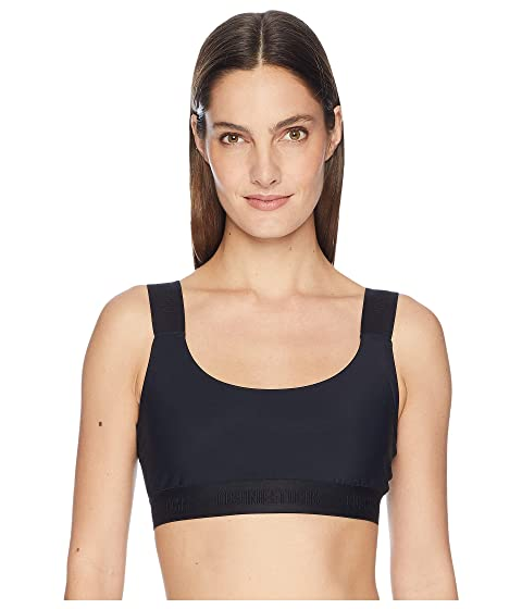 Cushnie Cecile Basic Bra Top with Logo Elastic Straps