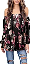 Best women's floral lace off shoulder top Reviews