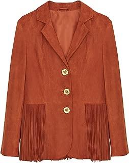 Uterque Women Fringed Suede Blazer 0613/509