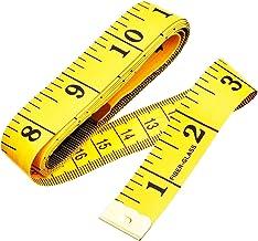 Zachte meetlint, 60 inch/150 cm dubbelzijdig naaisap, lichaamsmeetgereedschap voor kleding, naaien, maatwerk, geel