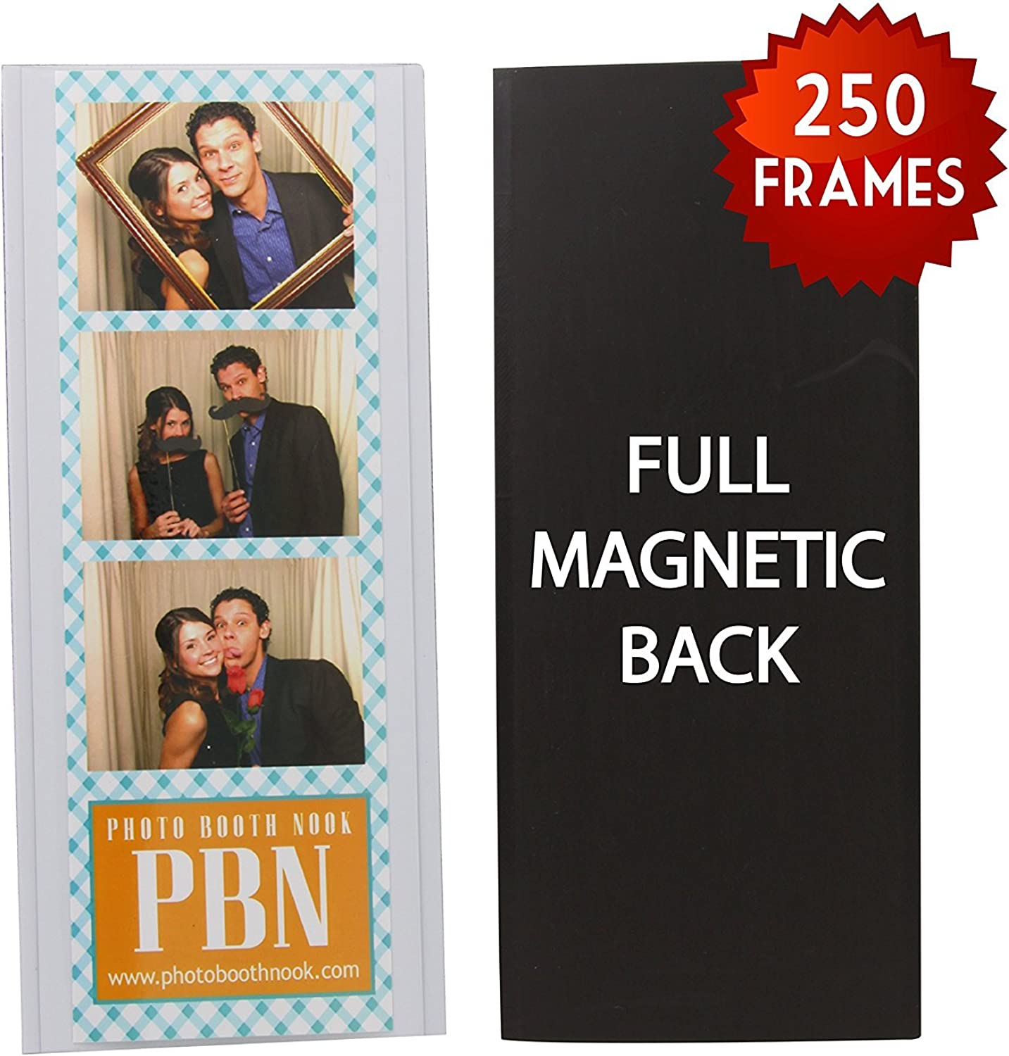 250 Magnetic Photo Booth Frames for 2  X 6  Photo Strips