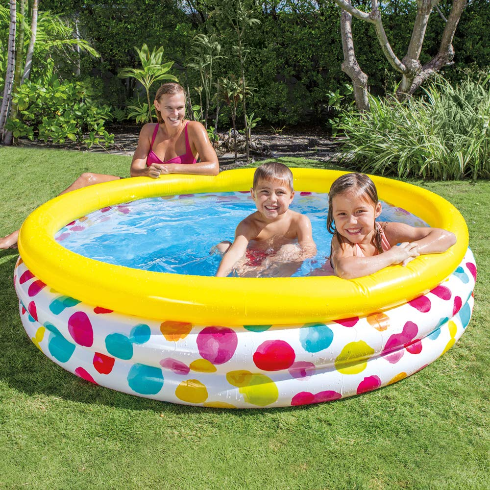 Intex 58449NP - Piscina hinchable Cool Dots 168 x 38 cm, 581 ...