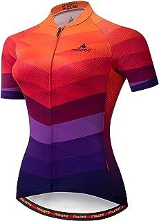 Aogda Cycling Jersey Women Bike Shirts Team Biking Clothing Ladies Bicycle Short Sleeves