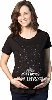 Maternity Force is Strong Funny Pregnancy T-Shirt for...