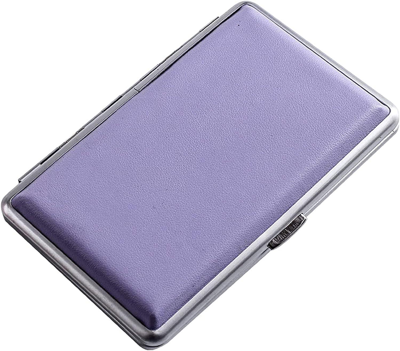 JXGXI Ranking TOP18 Women's Cigarette Max 56% OFF Case Slim Leather Bu Ideal Box