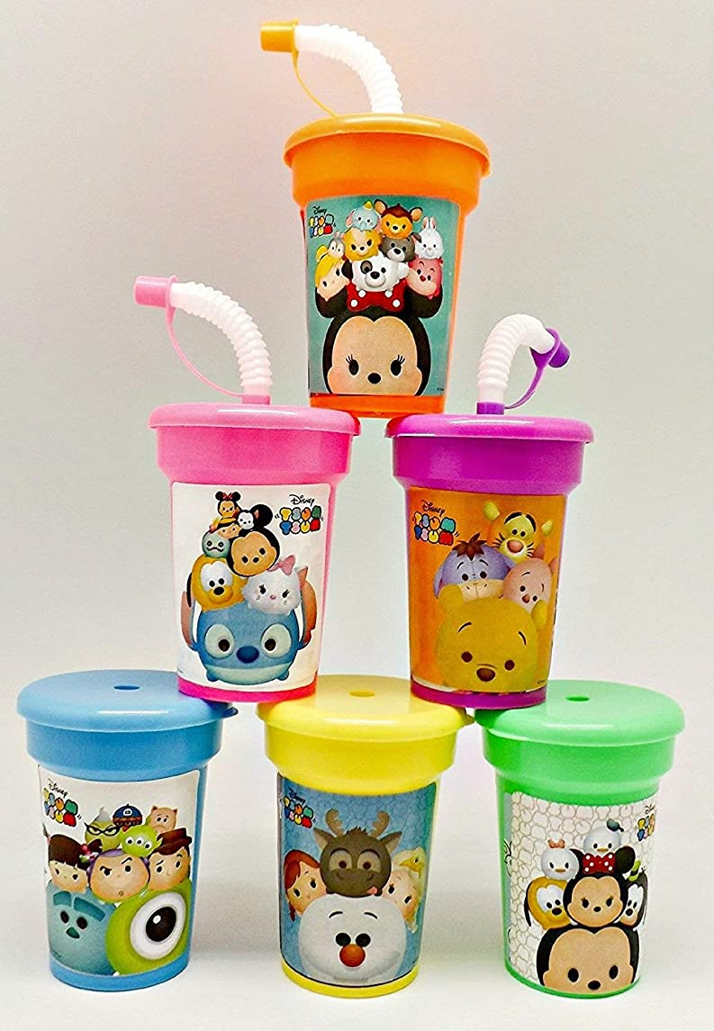 TSUM TSUM by Disney Cups 6 pack Sipper Favor Cups Birthday Party Supplies …