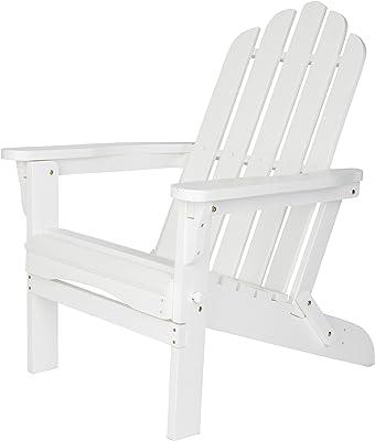 Shine Company Inc. 4658WT Marina Adirondack Folding Chair, White