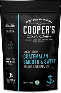 Organic Cold Brew Coffee - Guatemalan Coffee Beans Crafted For Cold Brewing - Whole Bean or Coarse Grind, Medium Roast, 16oz (Ground)