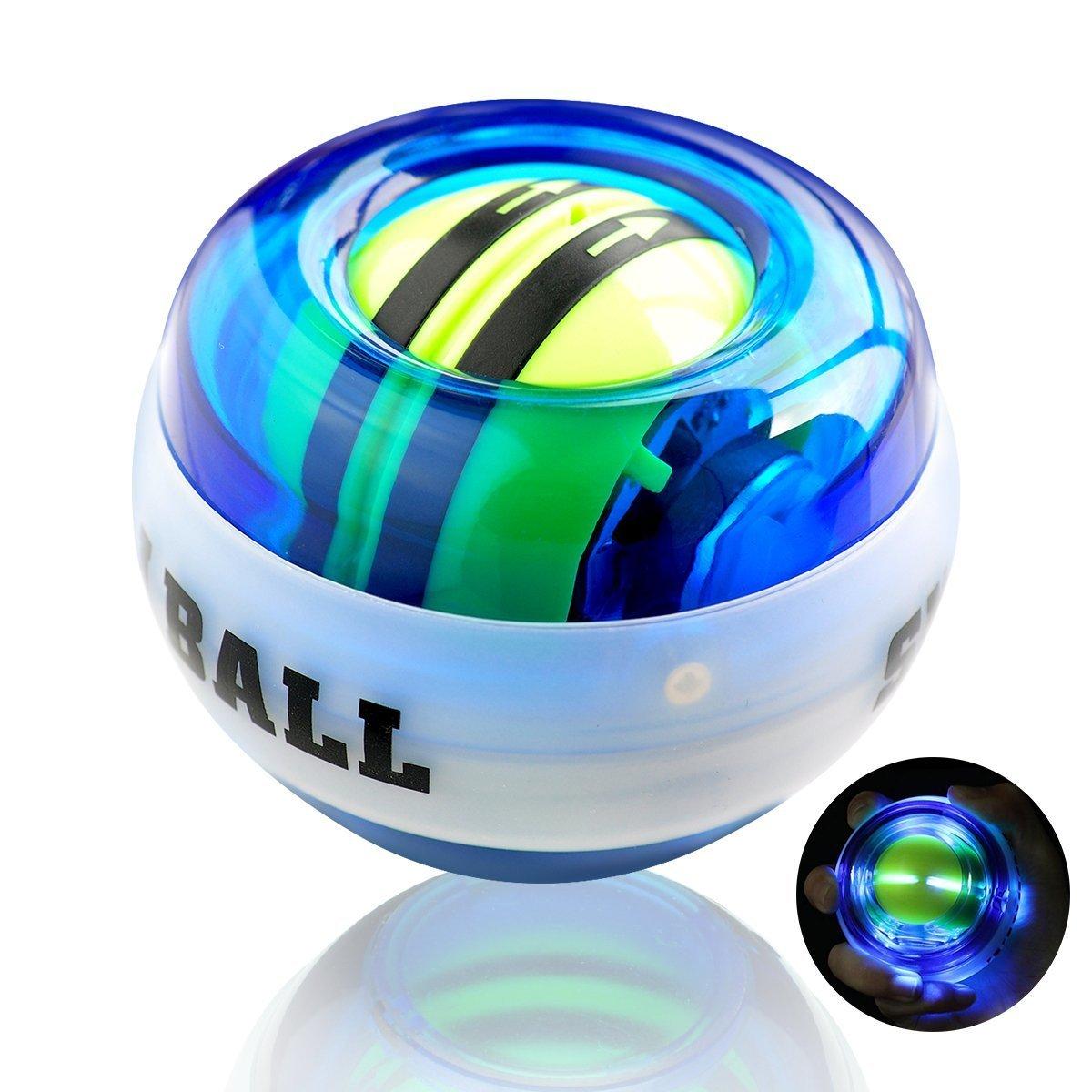 Autostart Gyroscopic - Pelota de ejercicio con luz LED, fortalece ...
