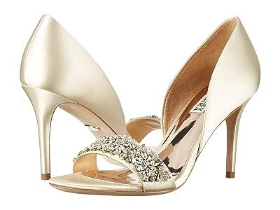 Badgley Mischka Ivy (Ivory Satin) High Heels