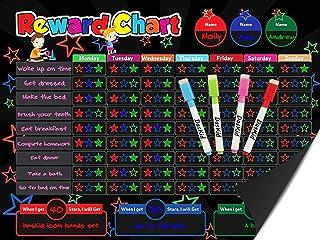 Magnetic Behavior Rewards Chalkboard Child Behavior Reward Chore Chart-Daily Household Chore Checklist– Multiple Kids Chor...