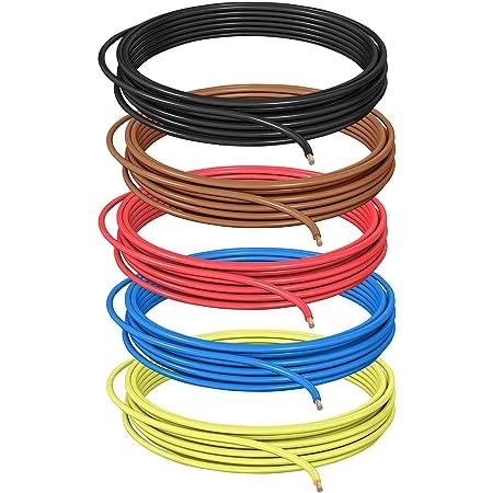 Dcsk 1 5mm 10m Fahrzeugleitung Flry B Asymmetrisch Set 5 Farben 1 50 Mm Kfz Kabel Litze Rot Schwarz Blau Braun Gelb 10 M Ring Baumarkt