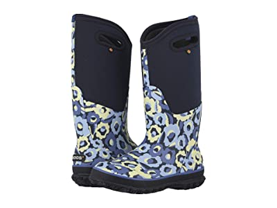 Bogs Classic Tall Flower Bites (Navy Multi) Women
