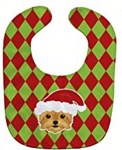 Caroline's Treasures Christmas Baby Bib, Yorkshire Terrier Yorkie, Large