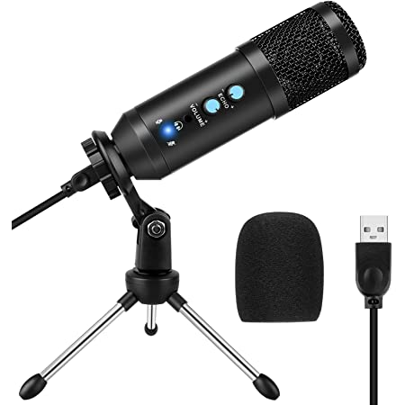 USB Microphone for Computer, Condenser Recording PC Microphone for Mac & Windows, Professional Plug&Play Studio Microphone for Gaming, Podcast, Online Chatting, Voice Overs and Streaming by Yotutun