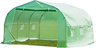 Ideal Choice Product Outdoor Portable Walk-in Tunnel Greenhouse,11.5'x10'x7'Large Size Plant Green House Gardening House, UV Protected, W/6 Side Screen Window