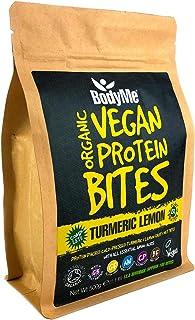 BodyMe Organic Vegan Protein Bites | Raw Turmeric Lemon | 500g (100 Bites) | With 3 Plant Proteins